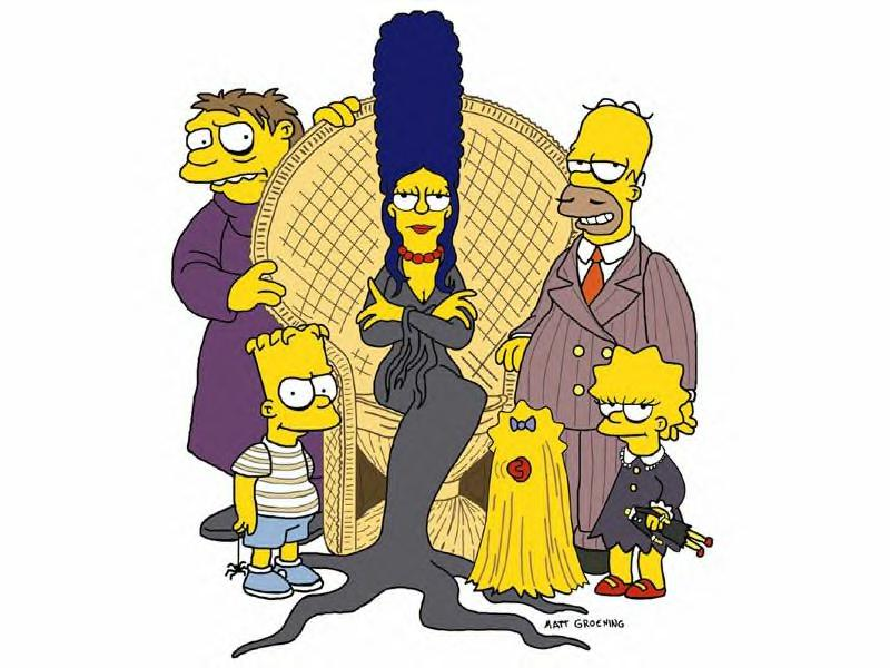Addams Family on The Simpsons (JPG)