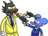 Itchy & Scratchy with guns (The Simpsons) (JPG)