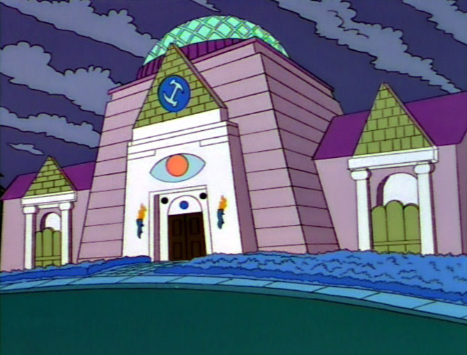 Stonecutters (Freemasons) on The Simpsons (JPG) (GIF)